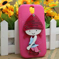 Pirate Girl Silicone Cases Skin Covers for HTC T528t One ST - Rose