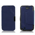 Side Flip leather Cases luxury Holster Skin for Samsung N7100 GALAXY Note2 - Blue