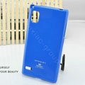 TPU Soft Cases Colorful Covers Skin for LG F160L Optimus LTE II 2 - Blue