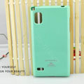 TPU Soft Cases Colorful Covers Skin for LG F160L Optimus LTE II 2 - Light green