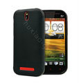 TPU Soft Cases Colorful Matte Covers Skin for HTC T528t One ST - Black