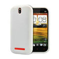 TPU Soft Cases Colorful Matte Covers Skin for HTC T528t One ST - White