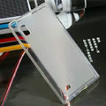 Transparent TPU Soft Cases Covers Skin for LG F160L Optimus LTE II 2 - White