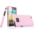 IMAK Armor Knight Color Covers Hard Cases for Samsung i9100 i9108 i9188 Galasy S2 - Pink (High transparent screen protector)