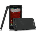 IMAK Armor Knight Full Cover Matte Color Shell Hard Cases for Motorola Droid RAZR XT910 XT912 - Black (High transparent screen protector)