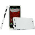 IMAK Armor Knight Full Cover Matte Color Shell Hard Cases for Motorola Droid RAZR XT910 XT912 - White (High transparent screen protector)