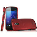 IMAK Armor Knight Full Cover Matte Color Shell Hard Cases for Samsung i9250 GALAXY Nexus Prime i515 - Red (High transparent screen protector)