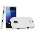 IMAK Armor Knight Full Cover Matte Color Shell Hard Cases for Samsung i9250 GALAXY Nexus Prime i515 - White (High transparent screen protector)