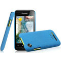 IMAK Cowboy Shell Quicksand Hard Cases Covers for Lenovo LePhone A660 - Blue (High transparent screen protector)