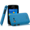 IMAK Cowboy Shell Quicksand Hard Cases Covers for Samsung i519 - Blue (High transparent screen protector)