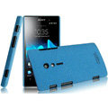 IMAK Cowboy Shell Quicksand Hard Cases Covers for Sony Ericsson LT28i Xperia ion - Blue (High transparent screen protector)