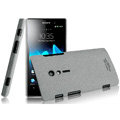 IMAK Cowboy Shell Quicksand Hard Cases Covers for Sony Ericsson LT28i Xperia ion - Gray (High transparent screen protector)