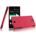 IMAK Cowboy Shell Quicksand Hard Cases Covers for Sony Ericsson LT29i Xperia Hayabusa Xperia GX/TX - Rose (High transparent screen protector)
