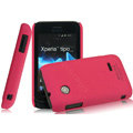 IMAK Cowboy Shell Quicksand Hard Cases Covers for Sony Ericsson ST21i Xperia Tipo - Rose (High transparent screen protector)