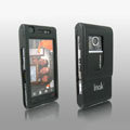 IMAK Full Cover Ultrathin Matte Color Shell Hard Cases for Sony Ericsson Satio U1 Idou - Black (High transparent screen protector)