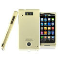 IMAK Titanium Armor Knight Color Covers Hard Cases for Motorola WX435 Triumph - Gold (High transparent screen protector)