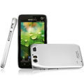 IMAK Titanium Color Covers Hard Cases for Motorola MT917 - Silver (High transparent screen protector)