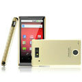 IMAK Titanium Color Covers Hard Cases for Motorola WX435 Triumph - Gold (High transparent screen protector)