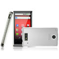 IMAK Titanium Color Covers Hard Cases for Motorola WX435 Triumph - Silver (High transparent screen protector)