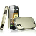 IMAK Titanium Color Covers Hard Cases for Motorola XT800 - Gold (High transparent screen protector)