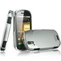 IMAK Titanium Color Covers Hard Cases for Motorola XT800 - Silver (High transparent screen protector)