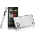 IMAK Titanium Color Covers Hard Cases for Motorola XT875 - Silver (High transparent screen protector)