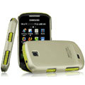 IMAK Titanium Color Covers Hard Cases for Samsung GALAXY Mini S3850 S5570 I559 - Gold (High transparent screen protector)