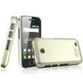 IMAK Titanium Color Covers Hard Cases for Samsung i589 - Gold (High transparent screen protector)