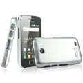 IMAK Titanium Color Covers Hard Cases for Samsung i589 - Silver (High transparent screen protector)