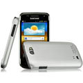 IMAK Titanium Color Covers Hard Cases for Samsung i8150 Galaxy W - Silver (High transparent screen protector)