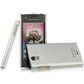 IMAK Titanium Color Covers Hard Cases for Sony Ericsson ST18i Xperia ray - Silver (High transparent screen protector)