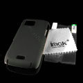 IMAK Ultrathin Color Covers Hard Cases for Samsung S8003 S8000 - Black (High transparent screen protector)