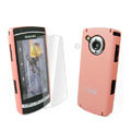 IMAK Ultrathin Color Covers Hard Cases for Samsung i8910 Omnia HD - Pink (High transparent screen protector)