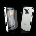 IMAK Ultrathin Color Covers Hard Cases for Samsung i8910 Omnia HD - White (High transparent screen protector)