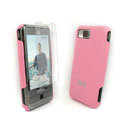 IMAK Ultrathin Color Covers Hard Cases for Samsung i900 i908 - Pink (High transparent screen protector)