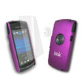 IMAK Ultrathin Color Covers Hard Cases for Sony Ericsson U5 U5i Vivaz - Purple (High transparent screen protector)