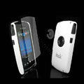 IMAK Ultrathin Color Covers Hard Cases for Sony Ericsson U5 U5i Vivaz - White (High transparent screen protector)