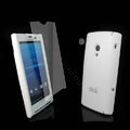 IMAK Ultrathin Color Covers Hard Cases for Sony Ericsson Xperia X10 - White (High transparent screen protector)