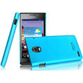 IMAK Ultrathin Matte Color Covers Hard Cases for Huawei Ascend P1 XL U9200E - Blue (High transparent screen protector)