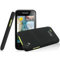 IMAK Ultrathin Matte Color Covers Hard Cases for Lenovo LePhone A660 - Black (High transparent screen protector)