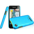 IMAK Ultrathin Matte Color Covers Hard Cases for Lenovo LePhone A660 - Blue (High transparent screen protector)