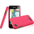 IMAK Ultrathin Matte Color Covers Hard Cases for Lenovo LePhone A660 - Rose (High transparent screen protector)