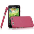 IMAK Ultrathin Matte Color Covers Hard Cases for Motorola MT917 - Rose (High transparent screen protector)