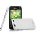 IMAK Ultrathin Matte Color Covers Hard Cases for Motorola MT917 - White (High transparent screen protector)