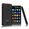 IMAK Ultrathin Matte Color Covers Hard Cases for Motorola WX435 Triumph - Black (High transparent screen protector)