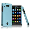 IMAK Ultrathin Matte Color Covers Hard Cases for Motorola WX435 Triumph - Blue (High transparent screen protector)