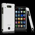 IMAK Ultrathin Matte Color Covers Hard Cases for Motorola WX435 Triumph - White (High transparent screen protector)