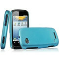IMAK Ultrathin Matte Color Covers Hard Cases for Motorola XT531 - Blue (High transparent screen protector)