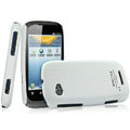 IMAK Ultrathin Matte Color Covers Hard Cases for Motorola XT531 - White (High transparent screen protector)