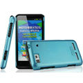 IMAK Ultrathin Matte Color Covers Hard Cases for Motorola XT615 - Blue (High transparent screen protector)
